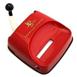 JPS Premium Maker Stopfgerät/Stopfmaschine in Rot - Mit Hebelmechanik - Praktisches Raucherzubehör - Erspart Zeit und Arbeit