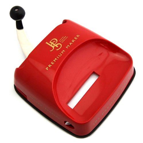 JPS Premium Maker Stopfgerät/Stopfmaschine in Rot - Mit Hebelmechanik - Praktisches Raucherzubehör...