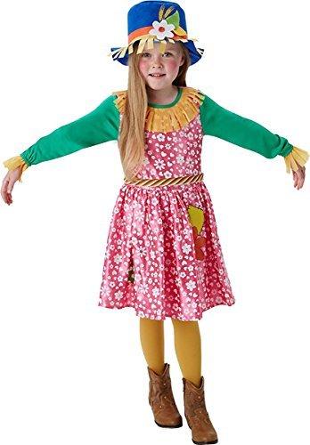 Mrs Vogelscheuche Mädchen Kostüm Zauberer von Oz Buch Woche Tag Kinderkostüm - Multi, L (7-8 Years)