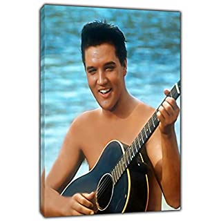 Elvis Presley Hawaii Photo Print ON Framed Canvas Wall Art Home Decoration Ready to Hang 30'' x 20'' inch -18mm Depth