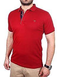 Reslad Poloshirt Herren Slim Fit Polo-Hemd Polo-Kragen Kurzarm-Shirt RS-5200