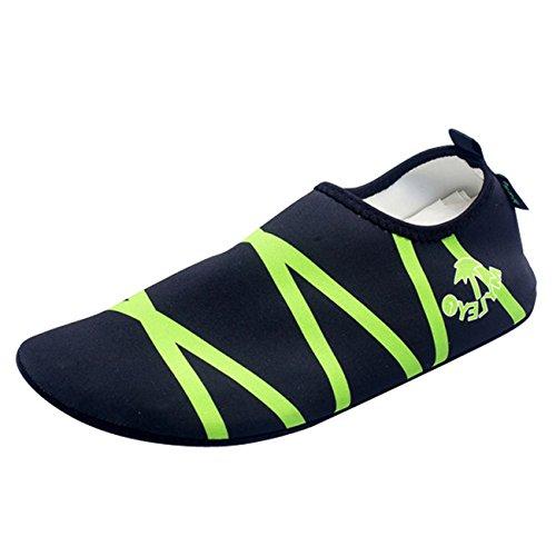 Surfschuhe Aquaschuhe Panegy Badeschuhe Strandschuhe und Grün amp; Schwarz Damen Unisex Grün für Schwarz Herren amp; qSUUwHIx