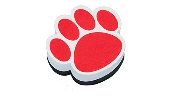 16 Pack Ashley Productions Magnetic Whiteboard Eraser Red Paw Arts Crafts Toys Games