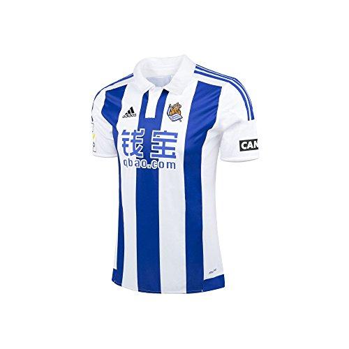 Adidas Real Sociedad Home JSY - Camiseta para Hombre, Color Blanco/Azul / Negro, Talla S