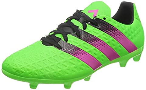 adidas Men's Ace 163 FG/AG Football Boots, Green / Pink / Black, 9 UK