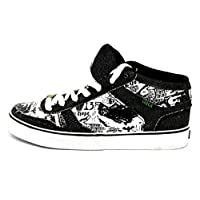 C1RCA Skateboarding Shoes 8 Track Black/White Sneakers Sneakers, Shoe Size:36.5
