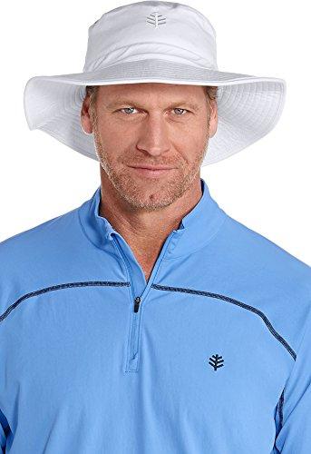 Coolibar Herren UV-Schutz Hut, Weiß, L/XL
