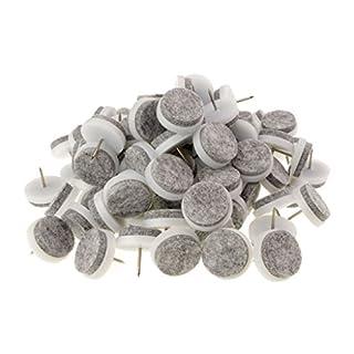 Trevendo® 100 Stück Filzgleiter weiß zum nageln Ø 24 mm