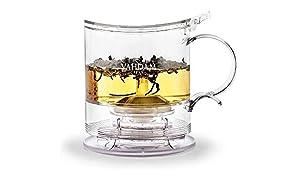Teiera imperiale,16ml, teiera da erogazione dal basso | 100% SICURO - APPROVATO FDA - PLASTICA BPA FREE | Tecnologia Drain-Tap, kit per tè all-in-one | Miglior teiera con infusi per tè sfuso
