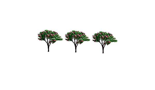 Xiton Model Trees Mini Scenery Landscape Architecture Trees Miniature Fairy Garden Tree Plant DIY Craft Garden Ornament Simulation Tree 3Pcs Gypsophila