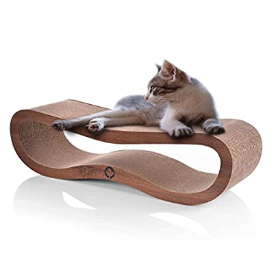 CanadianCat Company ® | Ultimate Cat Scratcher Lounge (Walnut Brown, 84x24x23 CM) Topseller from Wagner's
