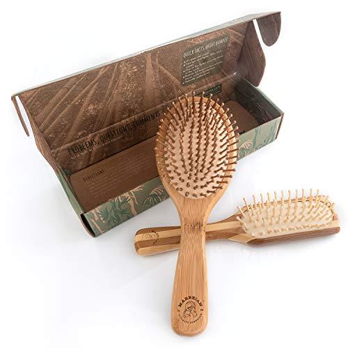 Lot de brosses à cheveux en bambou, la meilleure brosse démêlante douce pour tous les...