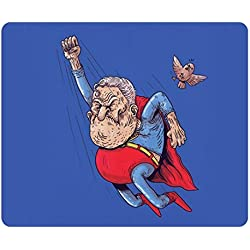 Creative Painting Custom Design Rectangle Mouse Pad Gaming Mousepad Old Superman Rectangle Non-Slip Mousepad Water Resistent Oblong Gaming Mouse Pads