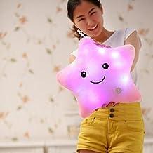 Bei Wang pilas de cinco puntas LED parpadeante luz almohada Forma de Estrella Muñecas decorativas lindas
