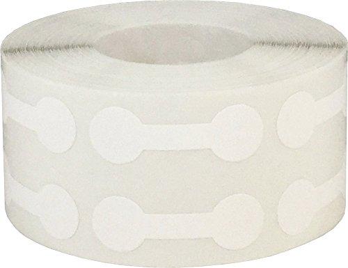 Blanco Mercancías Barra con Pesas Joyería Pegatinas, 11 x 33 mm 7/16 x 1 5/16 Pulgadas Ancho, 1000 Etiquetas en un Rollo