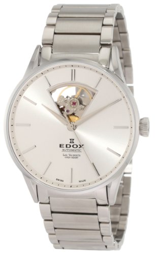 EDOX LES VAUBERTS HERREN-ARMBANDUHR 43MM AUTOMATIK ANALOG 85011 3B AIN