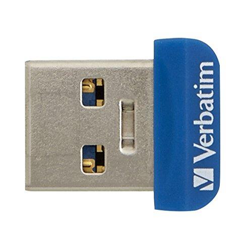 Verbatim Store \'n\' Stay NANO USB 3.0-Stick - 16 GB - kleiner USB Stick mit USB 3.0 Schnittstelle, superflaches Design, blau, 98709
