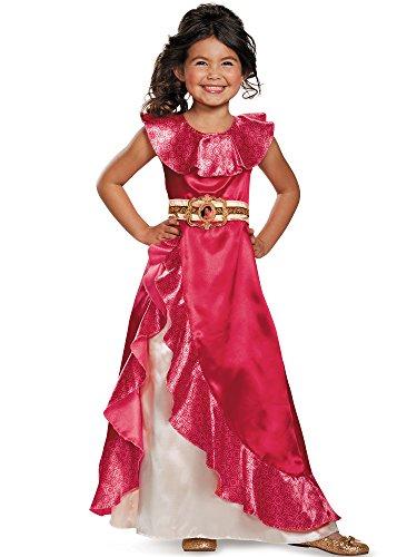 Disguise Elena Adventure Dress Classic Elena of Avalor Disney Costume, Medium/7-8 by Disguise