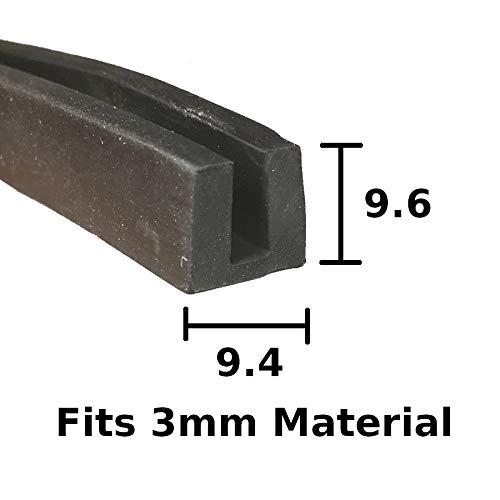 Standard Garniture Edge de protection de voiture en caoutchouc Noir 14/mm x 8,5/mm Compatible avec 1/mm /à 3/mm