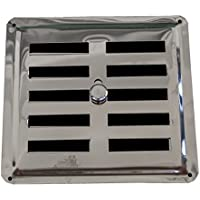 Ajuste aire Vent de acero inoxidable AISI 304 (150 mm x 145 mm),