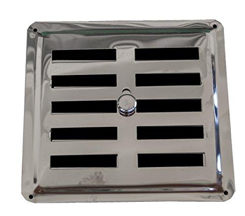 Regolabile Griglia in Acciaio Inossidabile 14,5 x 15 cm (145 x 150 mm), griglia di ventilazione in acciaio INOX AISI 304 non magnetico, griglia di regolazione, convezione regolato di uscita dell' aria/griglia di ingresso, Louvre