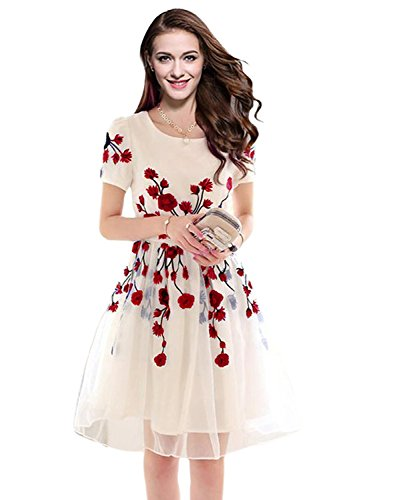 Woman Style Women's Dress (Velentine Red_1_Red_Free Size)