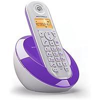 Motorola C601 Telefono Cordless DECT, Bianco/Viola