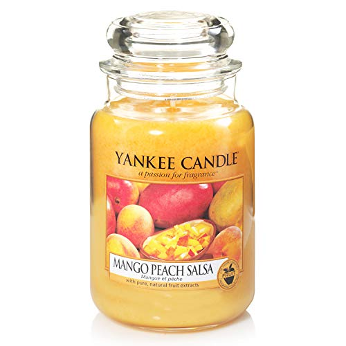 Yankee Candle Glaskerze, groß, Mango Peach Salsa