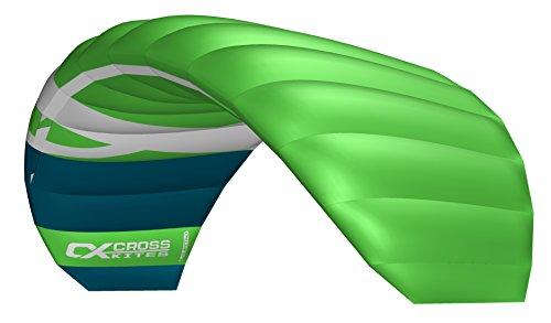Cross Kites 1,5m Quattro Vier Line Power Stunt Kite (Grün)