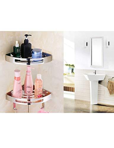 CWJ Handtuchhalter-Badezimmer-perforiertes Gestell Edelstahl-Dreieck-Korb-Toiletten-Regale Schlagen frei,R21cm * H (eingestellt) CMD
