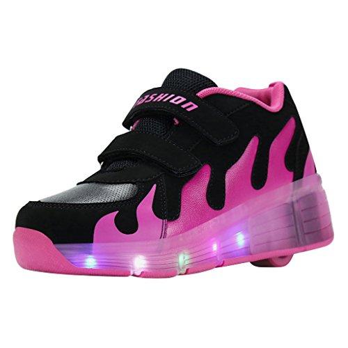 Levou Crianças Rad Mudam De Rosa Sgoodshoes Sapatos Rodas Da Cor Senhoras Skate Sapatos Jovem Com Homens 7 De Negra Cores Sapatilha Rolantes ZEx7wxF