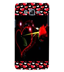 ColourCraft Lovely Heart and Rose Design Back Case Cover for SAMSUNG GALAXY J5