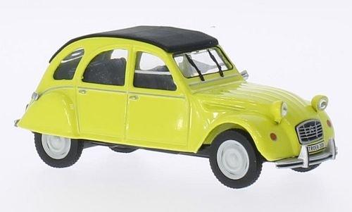 Citroen 2CV, giallo/nero, modello di automobile, modello prefabbricato, SpecialC.-75 1:43 Modello esclusivamente Da Collezione