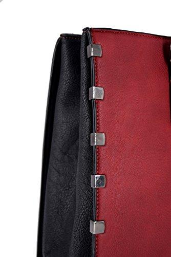 6166652b1f06f ... CRAZYCHIC - Damen Mode Handtasche mit Gold Platten - Large Tote Shopper  - Größe Format Henkeltasche ...