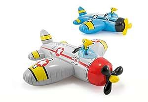 Intex 57537 - Cavalcabile Elicottero, 132 x 130 cm, Multicolore , Modelli/Colori Assortiti, 1 Pezzo