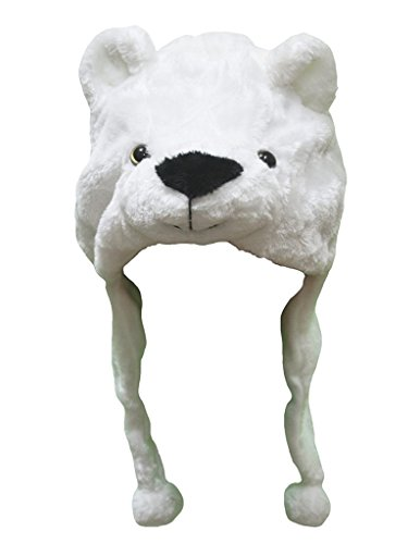 Petitebelle Halloween-Kostüm Tiere Hut Unisex-Kleidung Freie Größe Einheitsgröße Weiß Eisbär