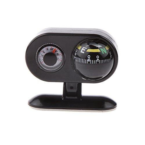 MagiDeal Abnehmbar 2-in-1 Im Freien Auto Kompass + Thermometer für Orientierung, Navigation - Multifunktionell