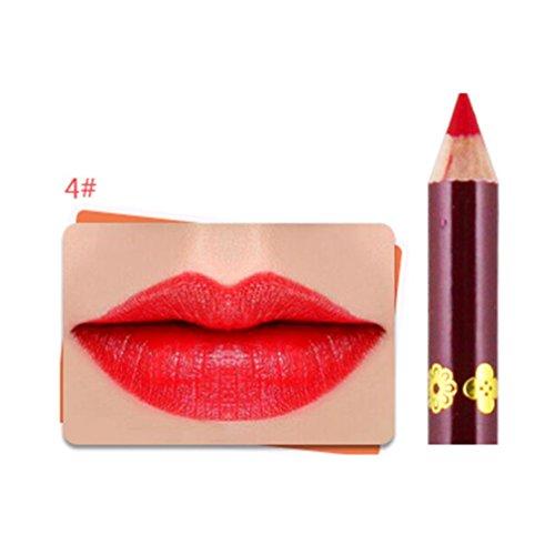 Jaminy Frauen wasserdichte Make-up Lippe Bleistift Matte Velvet Lip Liner Pen (12 Farbe) (D)