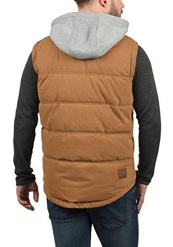 SOLID Cobber Herren Weste mit Sweatkapuze aus hochwertiger Materialqualität in Steppoptik Cinnamon (5056)