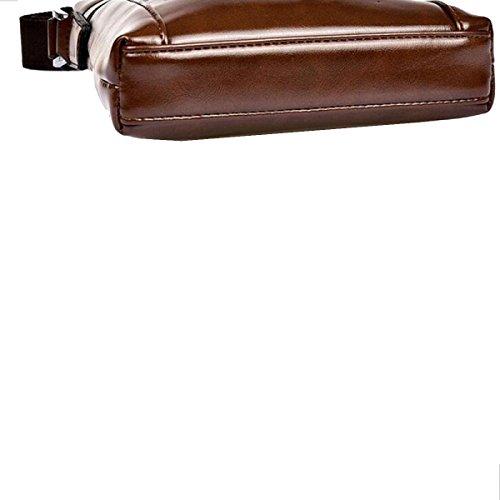 Borsa A Tracolla Da Uomo Yy.f PU Uomini Messenger Bag In Pelle Modelli Sacchetto Di Modo Di Esplosione Sacchetto Di Uomo Daffari Sacchetto Solido Sacchetto Di Colore 2 B