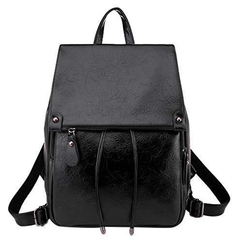 Pwtchenty Handtaschenrucksack Damen Leder Frauen Damenmode Retro Messenger Handtasche Rucksäcke Damen Elegant Totes Schulter Rucksäcke Taschenschultaschen Umhängetasche Backpack Daypacks Prime Day - Faux-leder-schulter-geldbeutel
