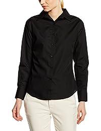 Premier Workwear Damen Bluse Ladies Poplin Long Sleeve Blouse