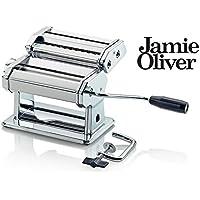 Jamie Oliver Edelstahl Nudelmaschine in Chrom - zum Herstellen von Frischer Pasta - 24 x 15,5 x 19 cm - Schnell und einfach frische Pasta