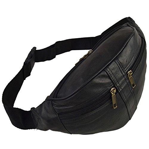 Oakridge Fanny Pack Reisetasche für Herren und Damen, Leder, Schwarz