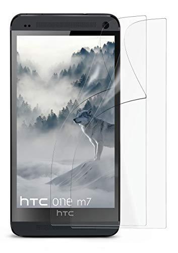 2X HTC One M7 | Schutzfolie Matt Display Schutz [Anti-Reflex] Screen Protector Fingerprint Handy-Folie Matte Displayschutz-Folie für HTC One M7 Displayfolie