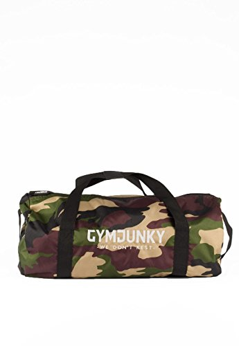 Gymjunky Duffle Bag Camo Green - Gym Training Fitness Sport