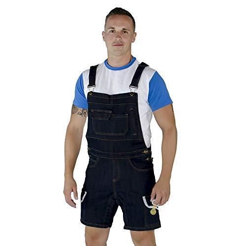 Tykables Kurze Herren Jeans Latzhose für ABDL mit Snap Inseam (X-Large) -