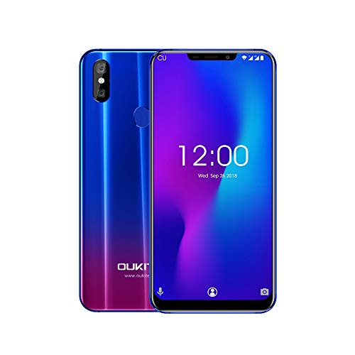 Oukitel U23 Android 8.1 Dual SIM Smartphone ohne Vertrag, 6.18 Zoll (19:9 1080 * 2246 FHD+Display),6GB RAM 64GB ROM, 8*Cortex-A53 2.0GHz,3500mAh,1600MP+2.0MP Hauptkamera + 8MP Frontkamera