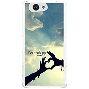 a AND b Designer Printed Mobile Back Cover / Back Case For Sony Xperia Z4 Mini (SON_Z4_MINI_3232)