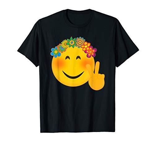 Hippie Kostüm Mann Liebe - Lustige Hippie-Friedenszeichen Süß Frieden Zeichen Blumen T-Shirt